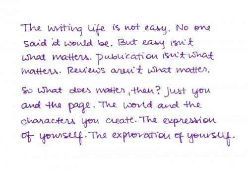 handwritten what matters