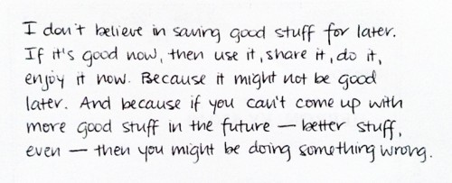 saving good stuff
